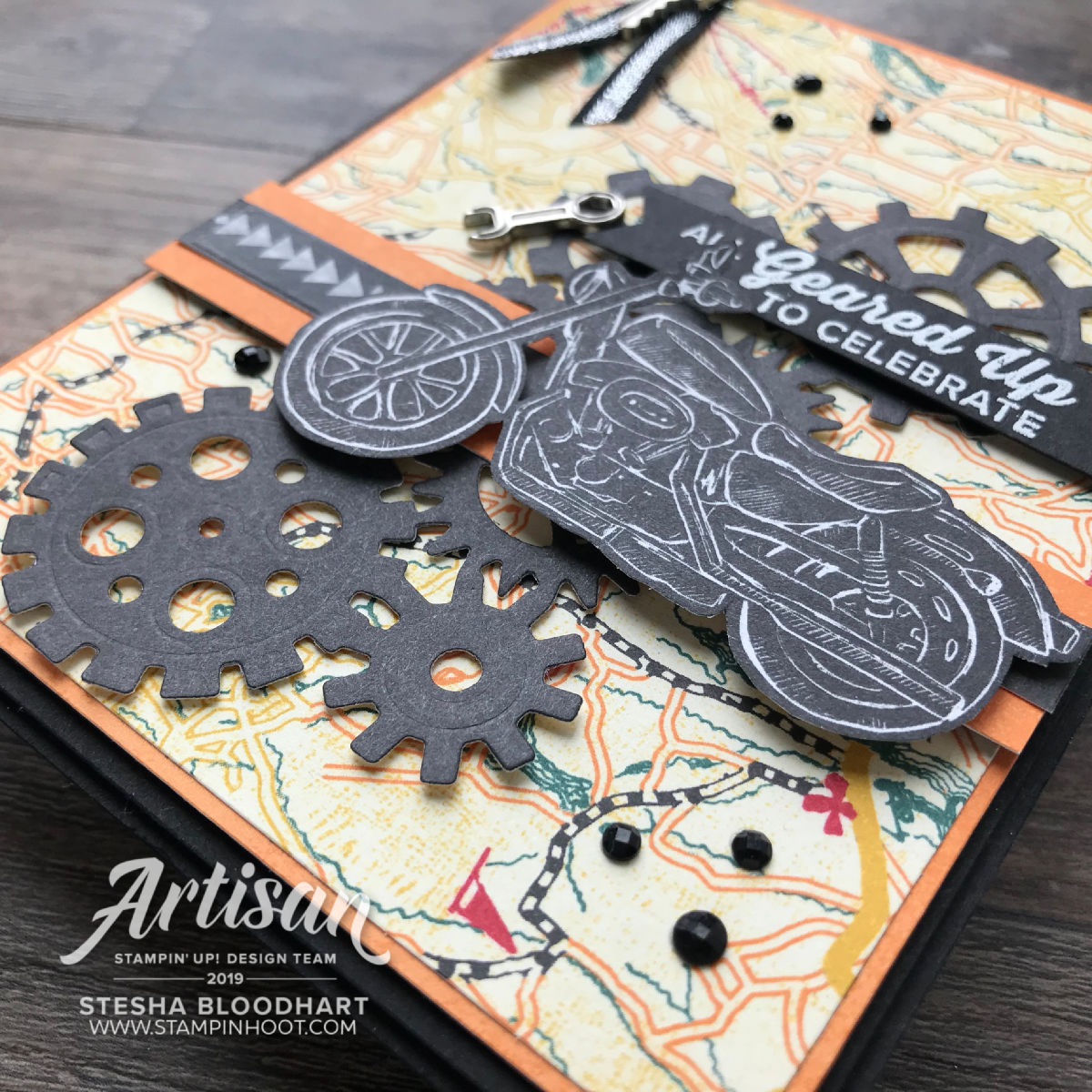 Garage Gears 2019 Artisan Design Stesha Bloodhart Best Dad Handmade Card