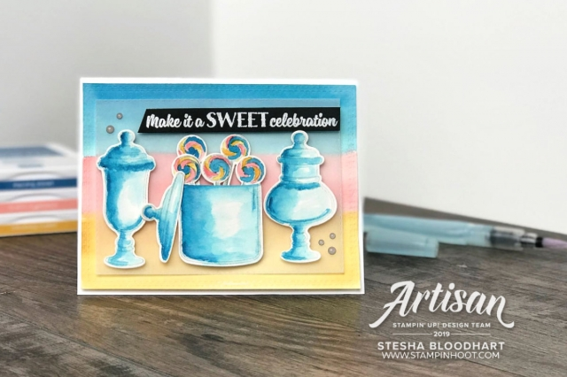 Sweetest Thing Bundle by Stampin' Up! Card and Candy Decor by Stesha Bloodhart, Stampin' Hoot!