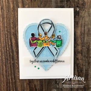 Create this friend card using the Artfully Aware Stamp Set by Stampin