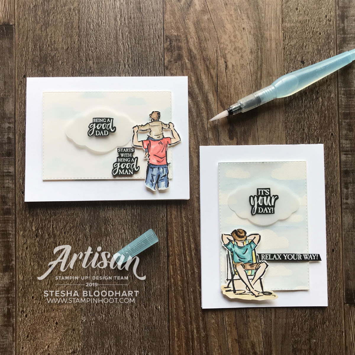A Good Man Stamp Set by Stampin' Up! Cards by Stesha Bloodhart, Stampin' Hoot!