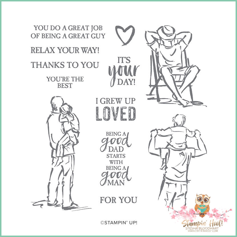 149270 A Good Man Cling Stamp Set by Stampin' Up!