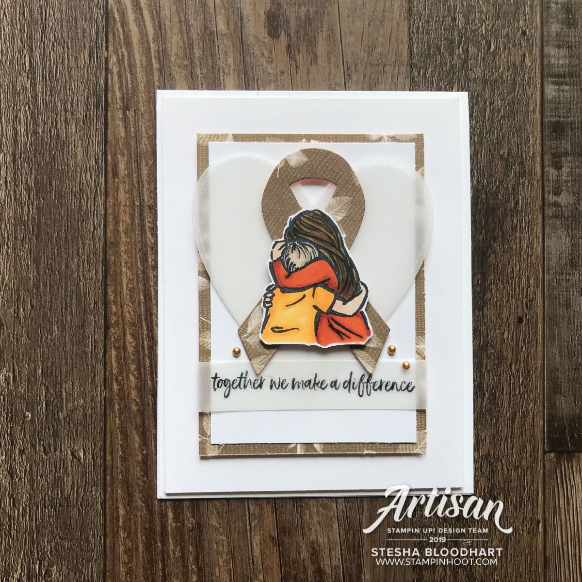Artfully Aware Stamp Set by Stampin' Up! Card created by Stesha Bloodhart, Stampin' Hoot!