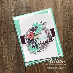 Bouquet Blooms Stamp Set & Gatefold Blossoms Dies by Stampin