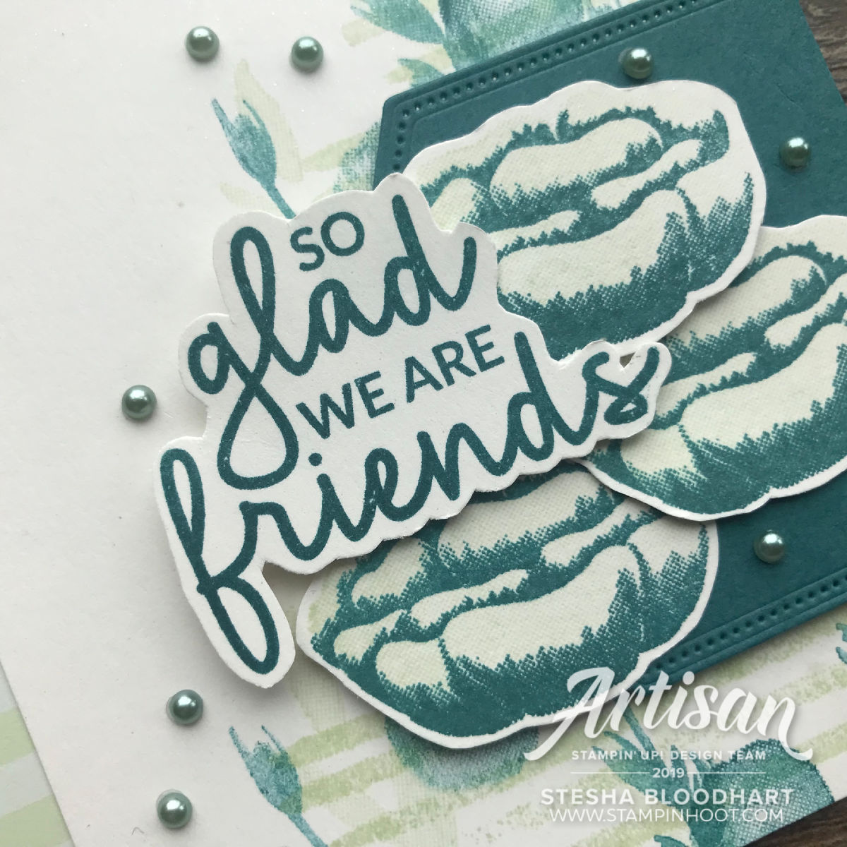 Create this friend card using the Incredible Like You Stamp Set by Stampin' Up! Stesha Bloodhart, Stampin' Hoot!