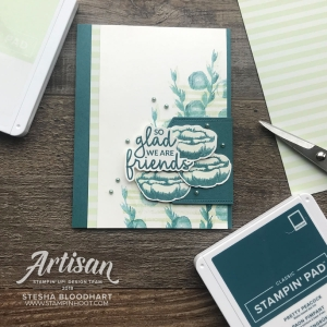 Create this friend card using the Incredible Like You Stamp Set by Stampin