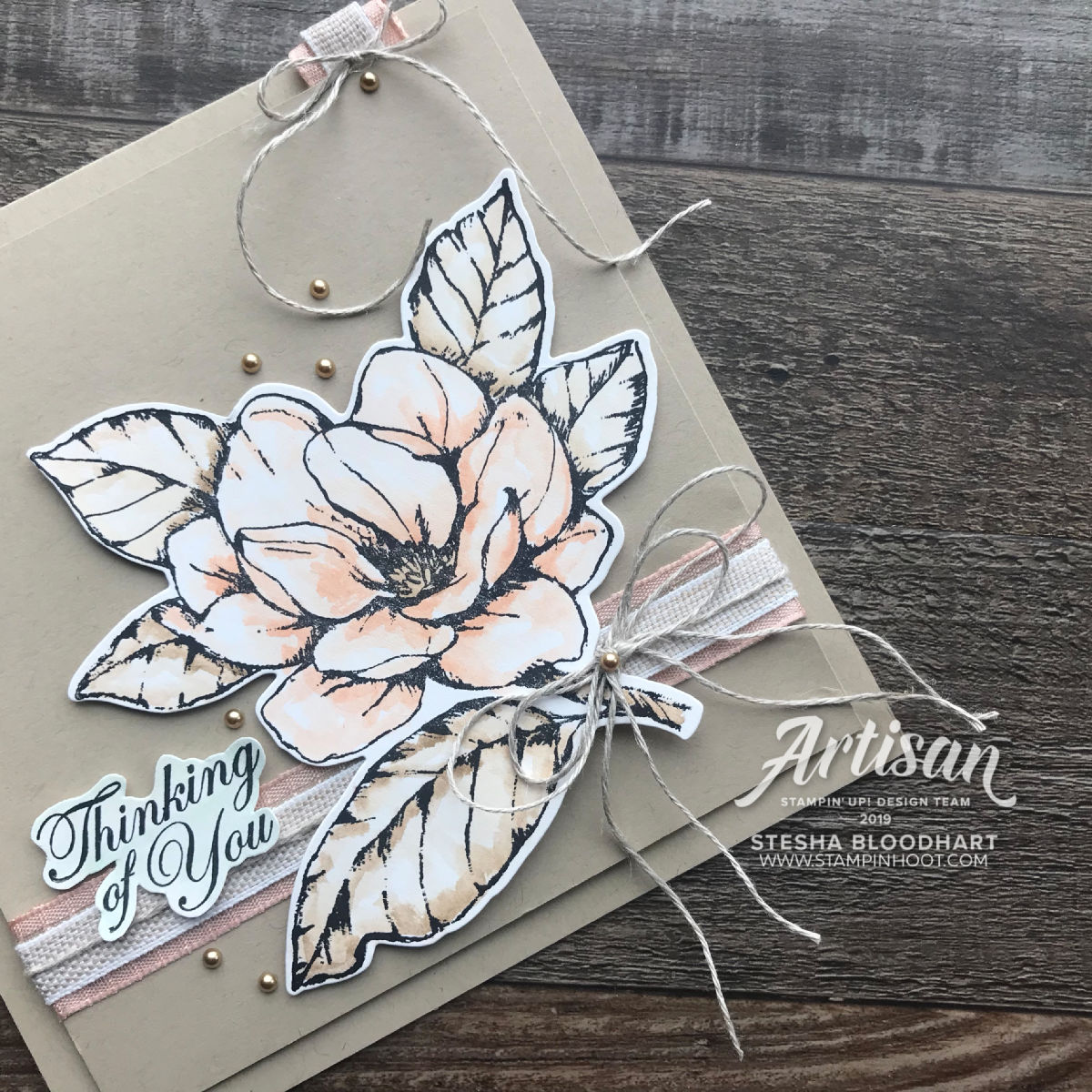 Create this handmade card using the all new Good Morning Magnolia Bundle by Stampin' Up! Stesha Bloodhart, Stampin' Hoot!(3)