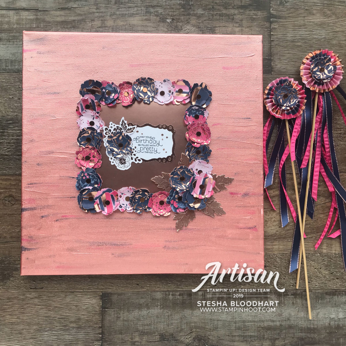 Everything is Rosy Product Medley Artisan Design Team Blog Hop May 1 2019 - Stesha Bloodhart, Stampin' Hoot!
