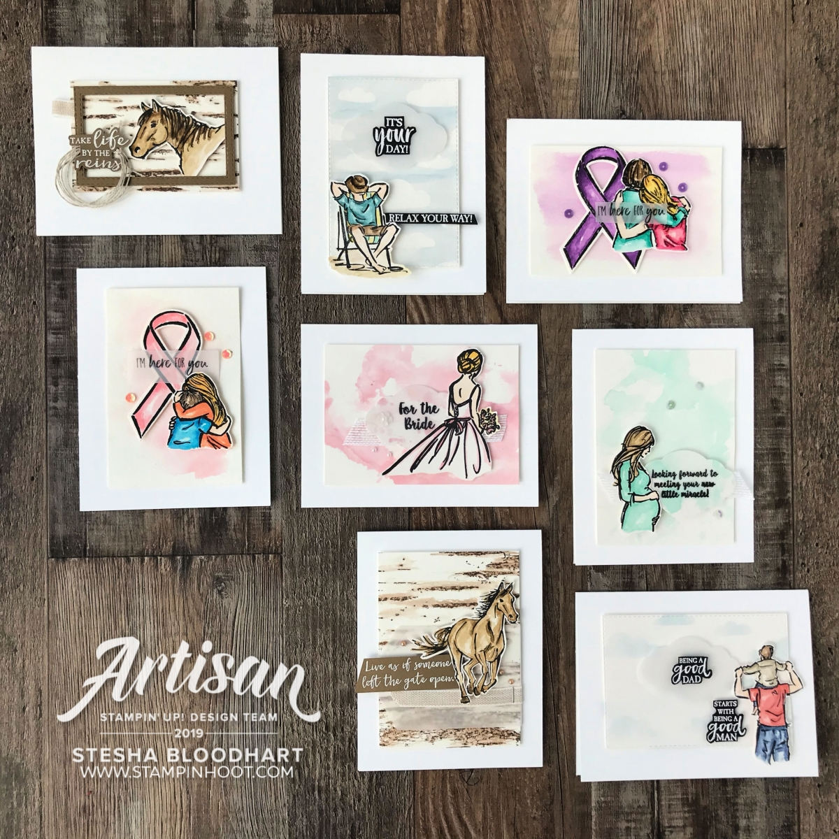 Stesha Bloodhart _ May 2019 Artisan Blog Hop Watercolor Images