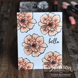 To A Wild Rose Stamp Set Only One Layer Card #simplestamping #tgifc211 Stesha Bloodhart Stampin