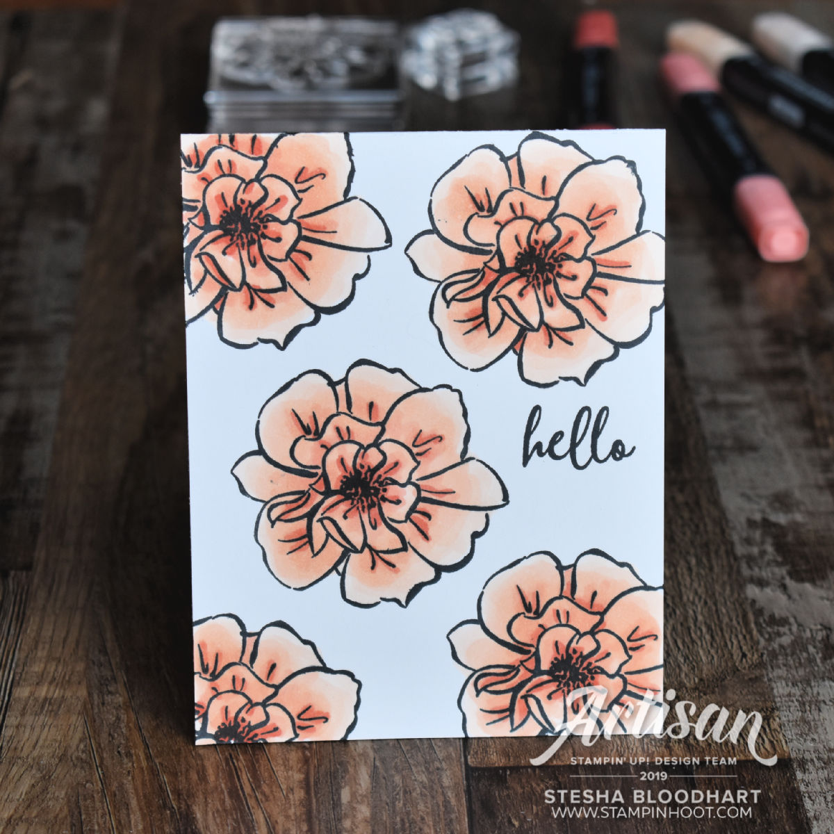 To A Wild Rose Stamp Set Only One Layer Card #simplestamping #tgifc211 Stesha Bloodhart Stampin' Hoot!