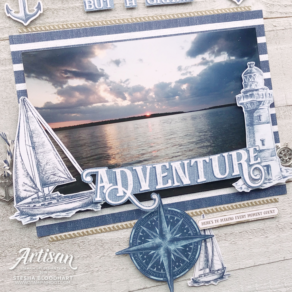 Come Sail Away Suite by Stampin' Up! Wall Art by Stesha Bloodhart, Stampin' Hoot!
