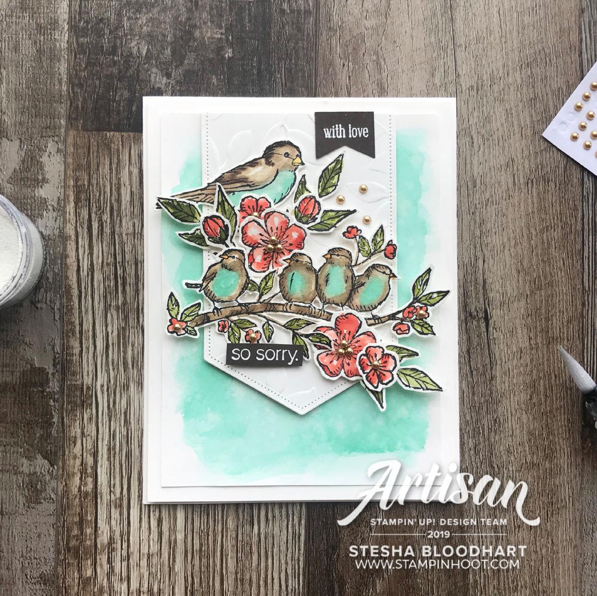 Free As A Bird Bundle by Stampin' Up! Card by 2019 Artisan Stesha Bloodhart, Stampin' Hoot!