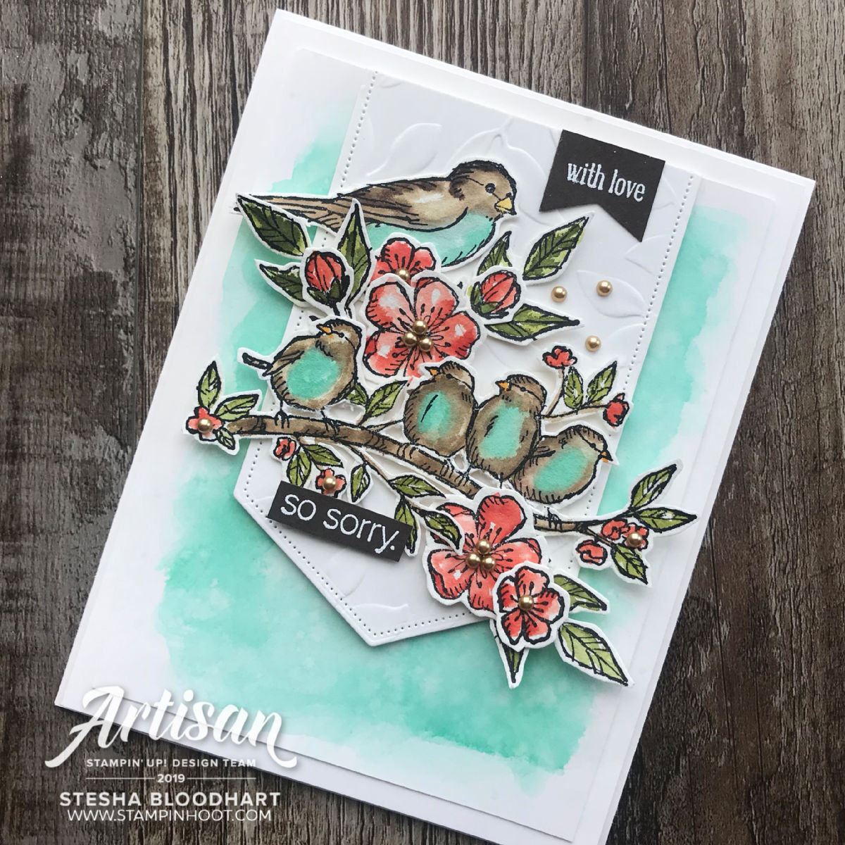 Free As A Bird Bundle by Stampin' Up! Card by 2019 Artisan Stesha Bloodhart, Stampin' Hoot!