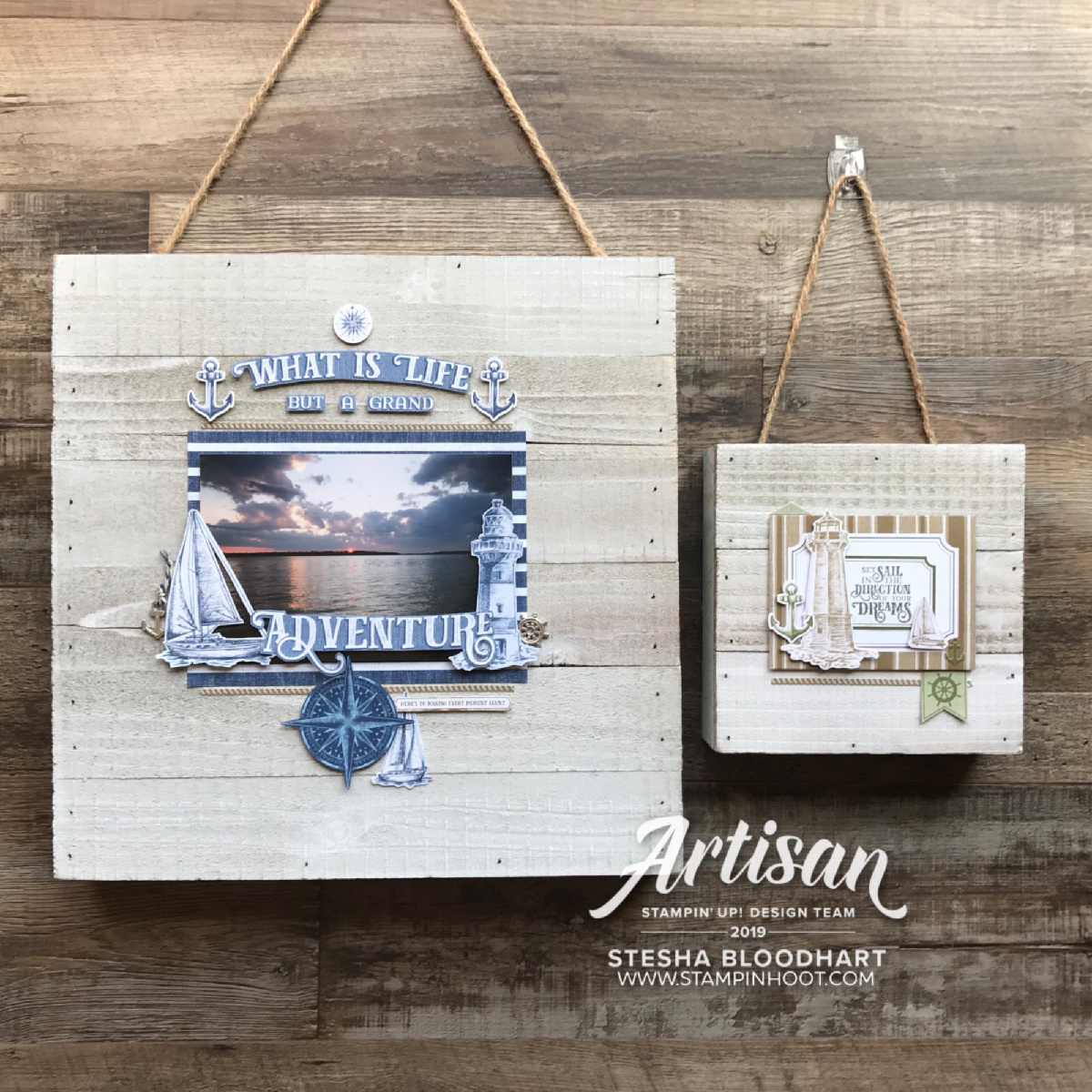 Come Sail Away Suite of Products by Stampin' Up! Home Decor by Stesha Bloodhart, Stampin' Hoot! 2019 Artisan Design Team