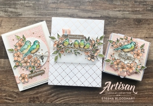 Bird Ballad Suite Trio of Wedding Creations by 2019 Artisan Design Team Member Stesha Bloodhart, Stampin