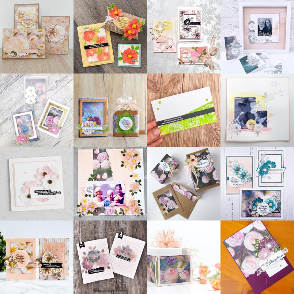 July 2019 Artisan Blog Hop Team Grid - Perennial Essence Suite