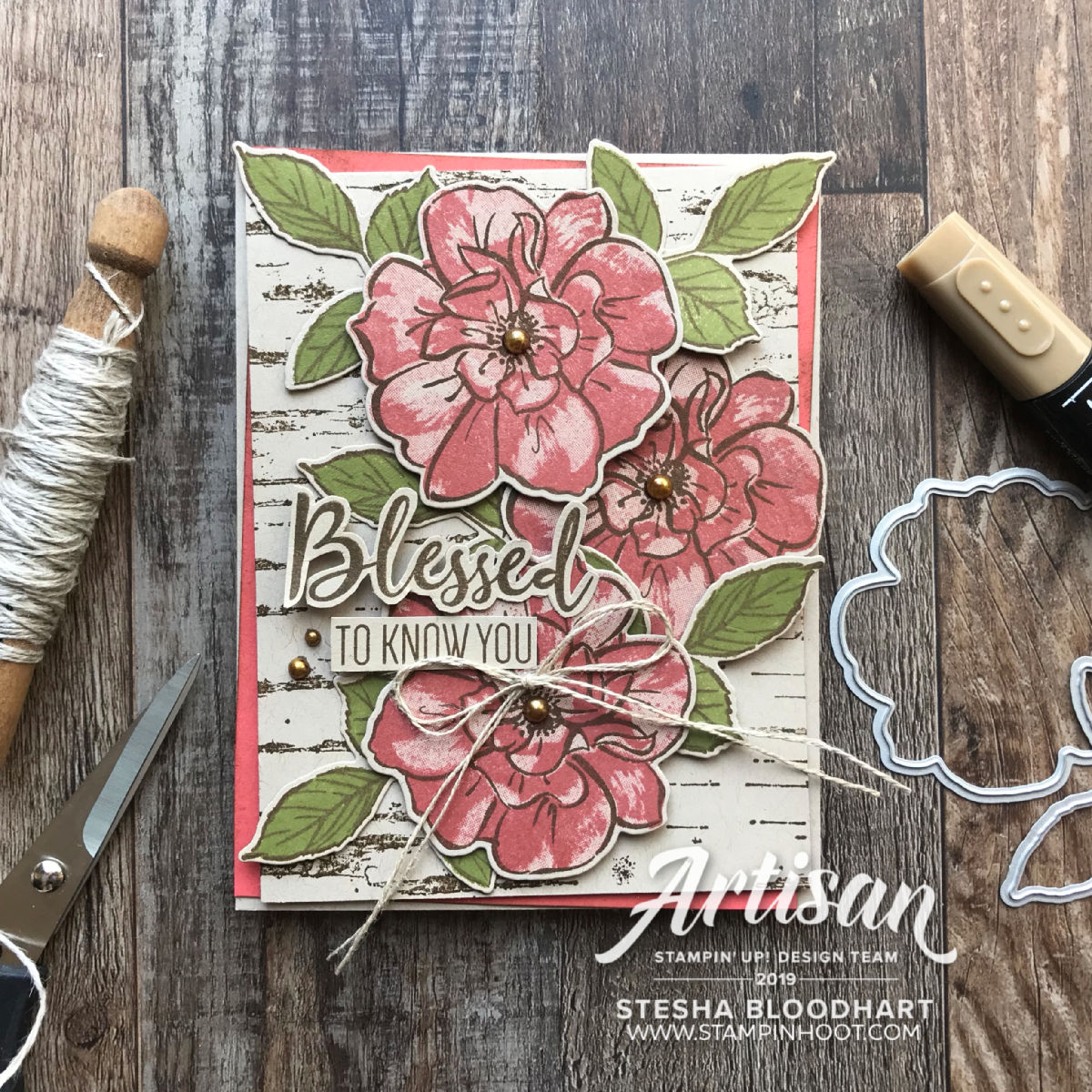 To A Wild Rose Bundle & Terracotta Tile In Color from Stampin' Up! Card by 2019 Artisan Design Team Memeber, Stesha Bloodhart, Stampin' Hoot!