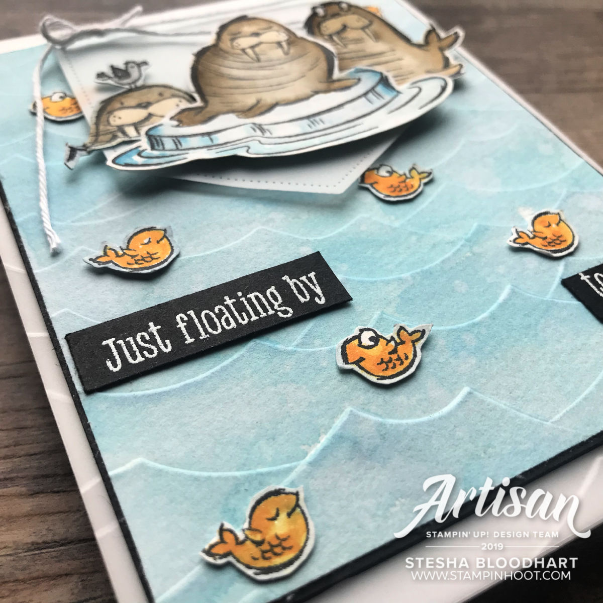We'll Walrus be Friends Stamp Set by Stampin' Up! Card by 2019 Artisan Stesha Bloodhart Stampin' Hoot!