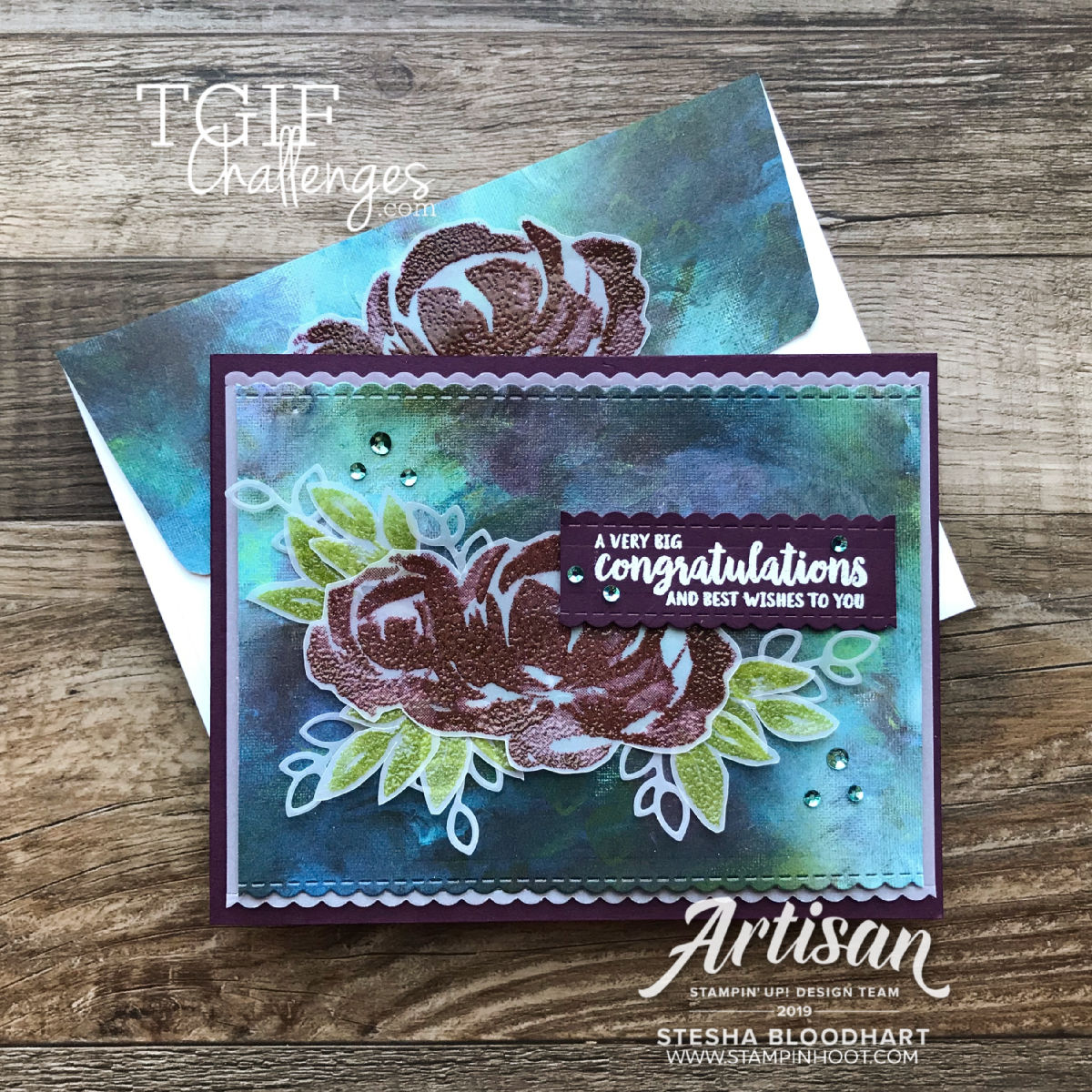 TGIFC220 Sketch Challenge Beautiful Friendship Stesha Bloodhart, Stampin' Hoot