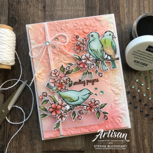 Country Floral 3D Embossing Folder & Bird Ballad Designer Series Paper by Stampin