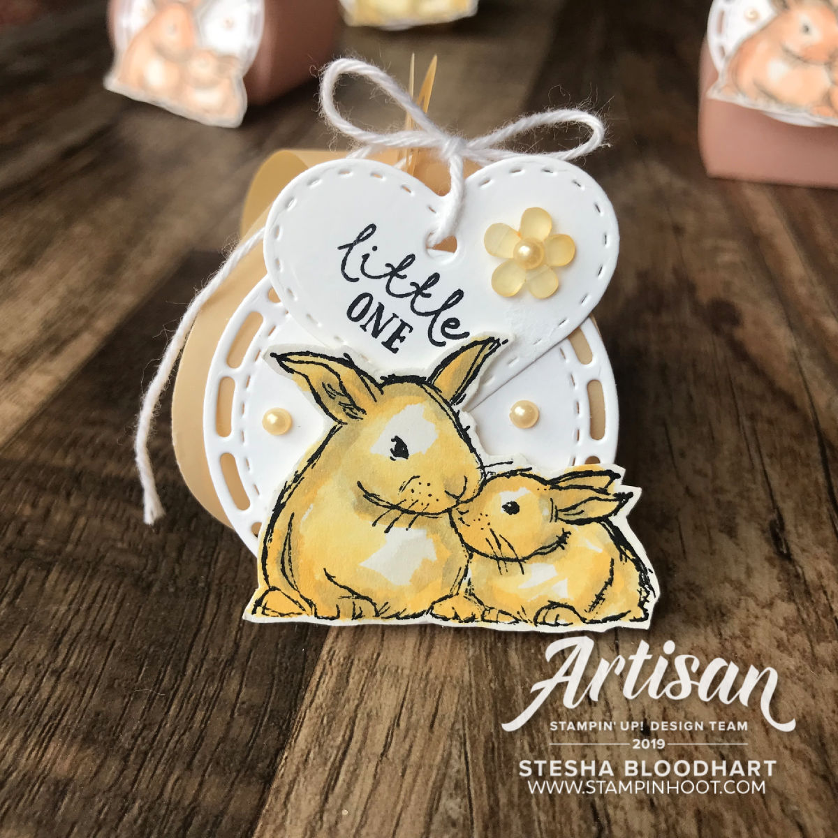 Mini Curvy Keepsake Baby Shower Treats by Stesha Bloodhart, Stampin' Hoot! 2019 Artisan Design Team