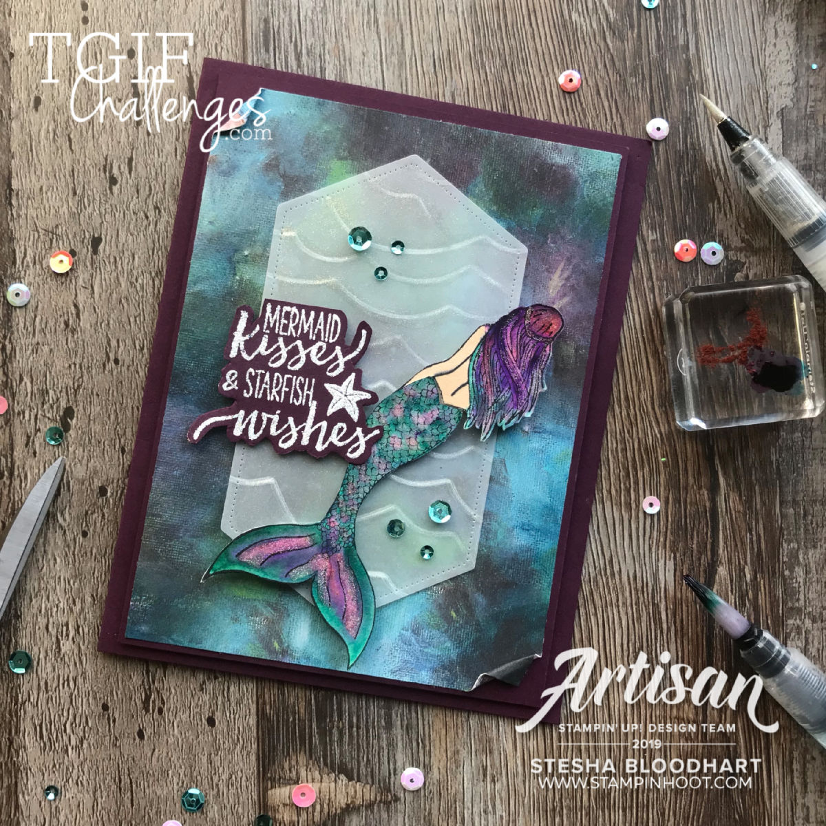 Birch Background and Nature's Beauty Stamp Set by Stampin' Up! Card by Stesha Bloodhart, Stampin' Hoot!