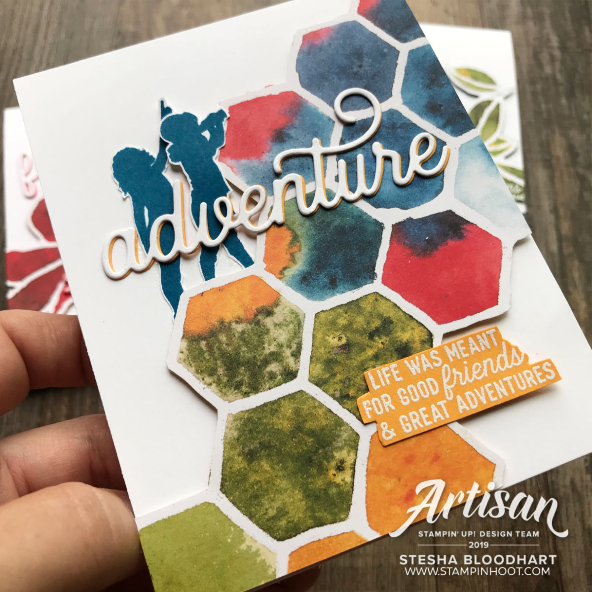 See a Silhouette Designer Series Paper by Stampin' Up! Card by Stesha Bloodhart, Stampin' Hoot! 2019 Artisan Design Team Member