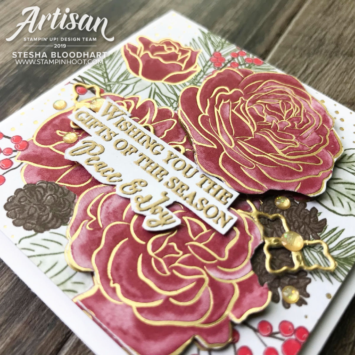 Christmastime is Here Suite by Stesha Bloodhart - 2019 Artisan Blog Hop - Stesha Bloodhart, Stampin' Hoot!