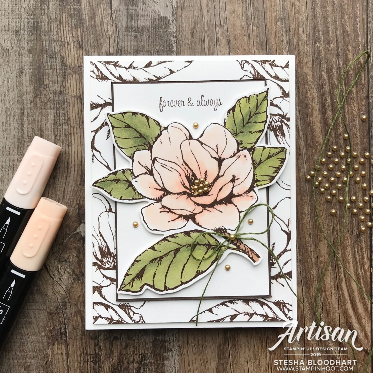 Good Morning Magnolia Bundle by Stampin' Up! Card by Stesha Bloodhart, Stampin' Hoot!#GDP211 Challenge Theme Happily Every After