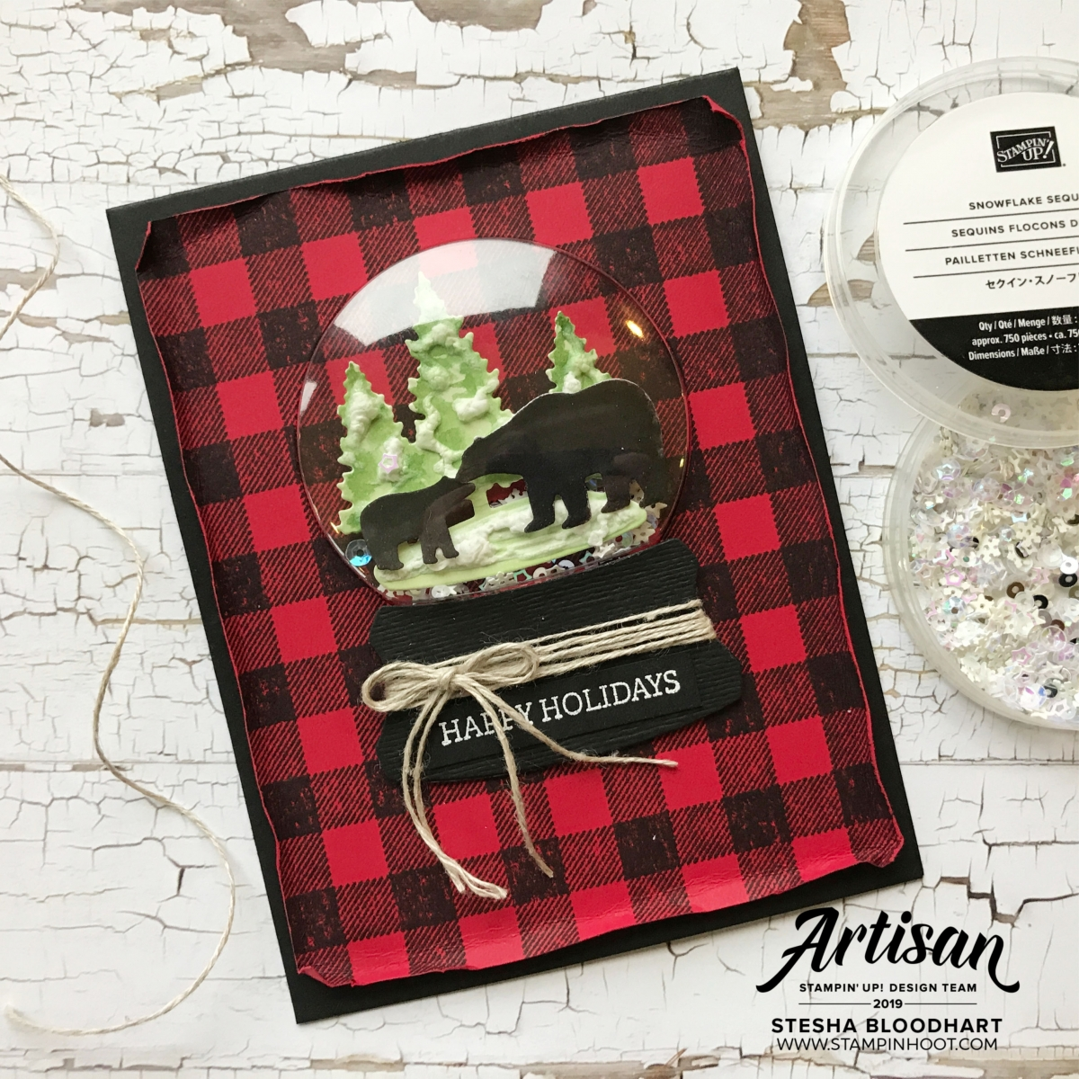 Still Scenes Bundle from Stampin' Up! Card by Stesha Bloodhart, Stampin' Hoot! Stamp Review Crew
