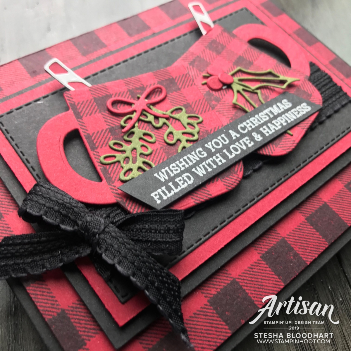 Cup of Christmas Bundle by Stampin' Up! Card by Stesha Bloodhart, Stampin' Hoot!  Stamp Review Crew