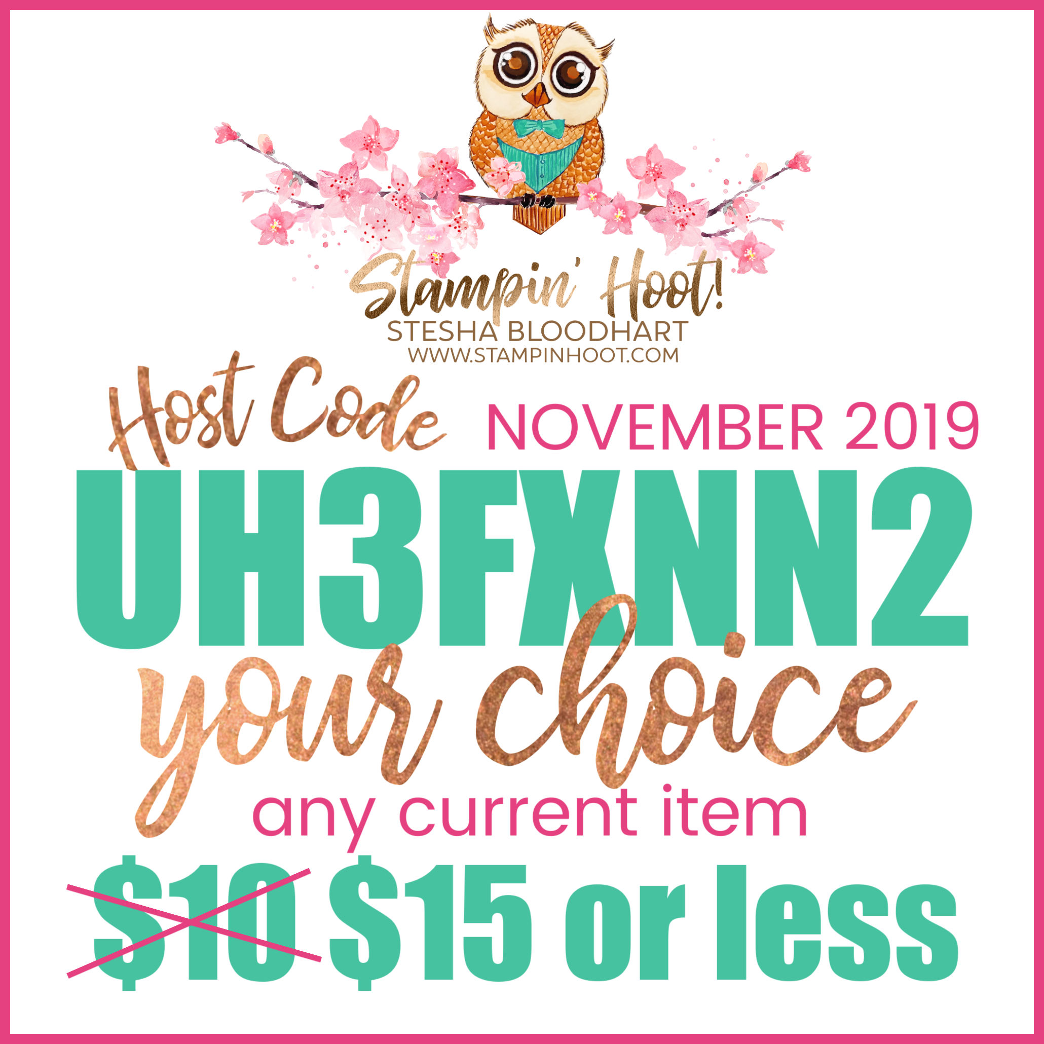 October 2019 Hoot Loot Code
