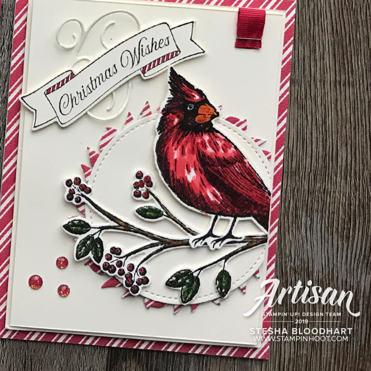 Artisan Design Team Blog Hop October 2019 - Gather Together Bundle - Scrapbook Page and Card Created by Stesha Bloodhart, Stampin' Hoot!