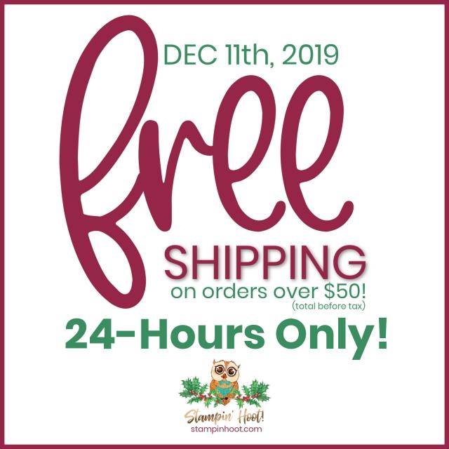 Free Shipping December 11 2019`
