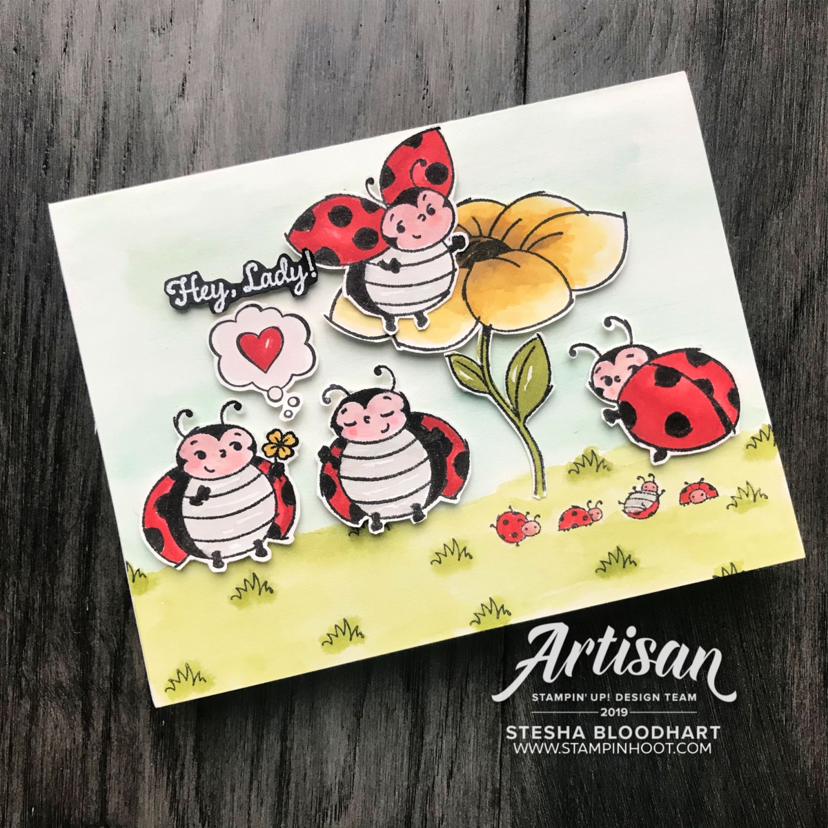 Little Ladybug Cling Stamp Set - Sale-a-Bration - Stampin' Rewards Only - Free with $300 Order - Stesha Bloodhart, Stampin' Hoot! 2019 Artisan Design Team Blog Hop