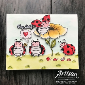 Little Ladybug Cling Stamp Set - Sale-a-Bration - Stampin