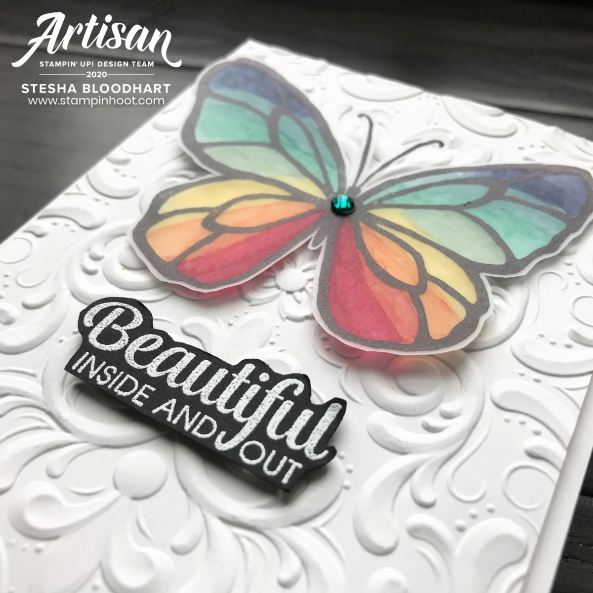 Beautiful Day Stamp Set by Stampin' Up! Card by Stesha Bloodhart, Stampin' Hoot! 2020 Artisan Design Team