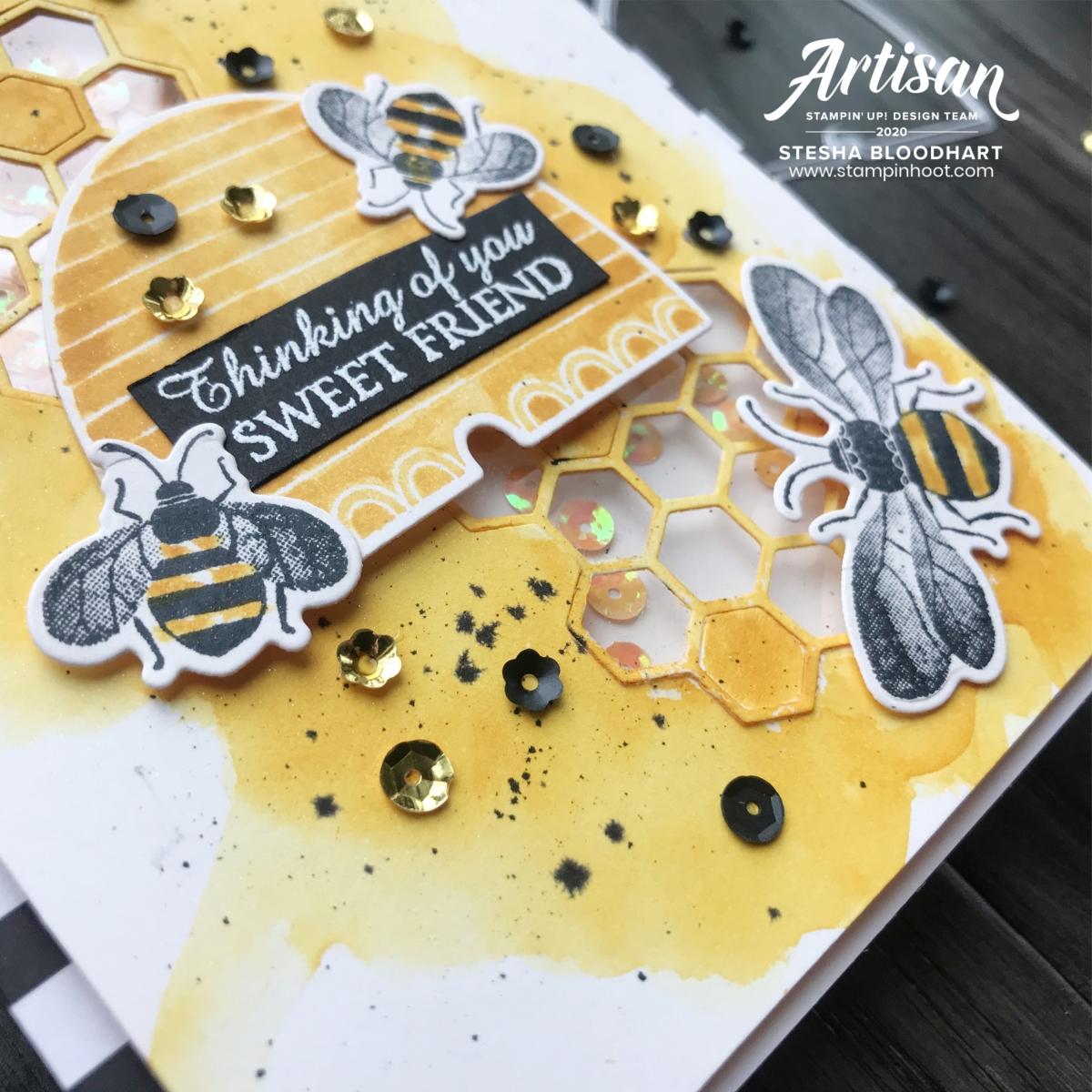 Fancy Friday Shake It February Challenge _ Stesha Bloodhart_Stampin' Hoot! Stampin' Up! 2020 Artisan Design Team_Honey Bee Bundle