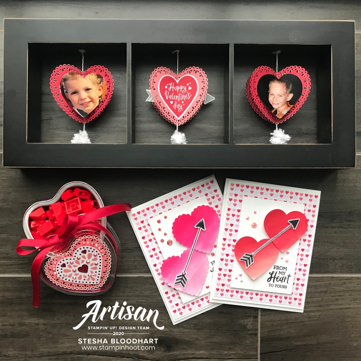 From My Heart Suite Bundle from Stampin' Up! Creations by Stesha Bloodhart, Stampin' Hoot! 2020 Artisan Design Team Blog Hop