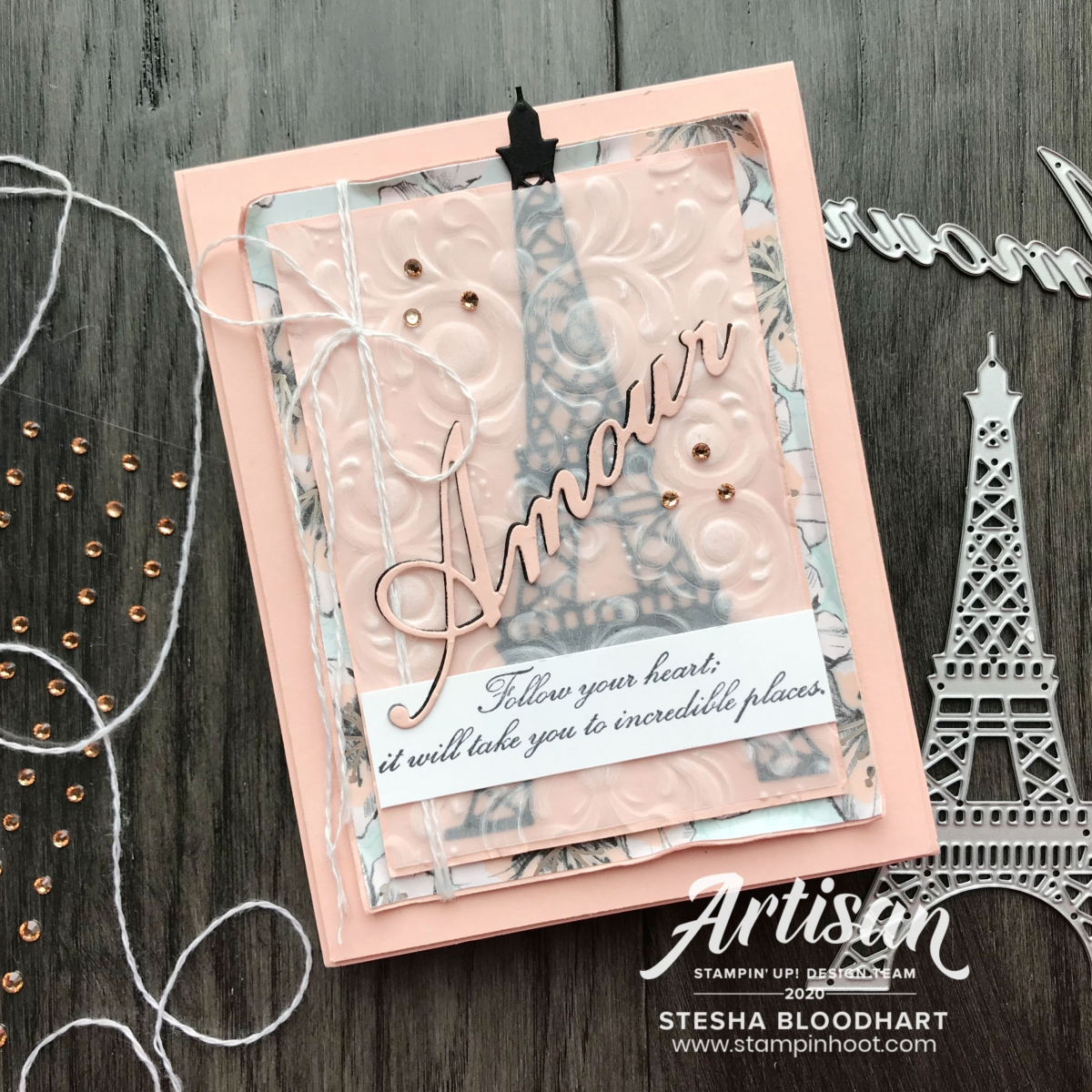 Parisian Blossoms Specialty Designer Series Paper & Parisian Beauty Bundle by Stampin' Up! Card by Stesha Bloodhart, Stampin' Hoot!(2)