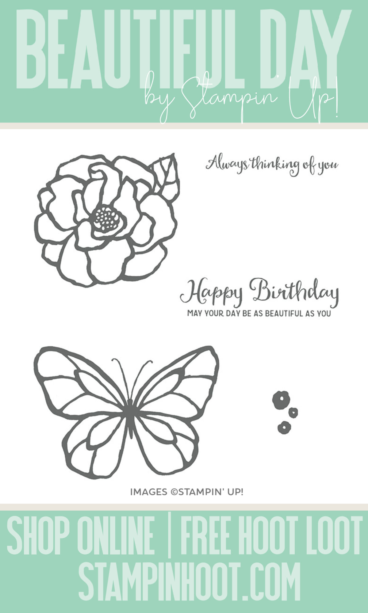 Stampin' Hoot Pin Beautiful Day Stamp Set by Stampin' Up!