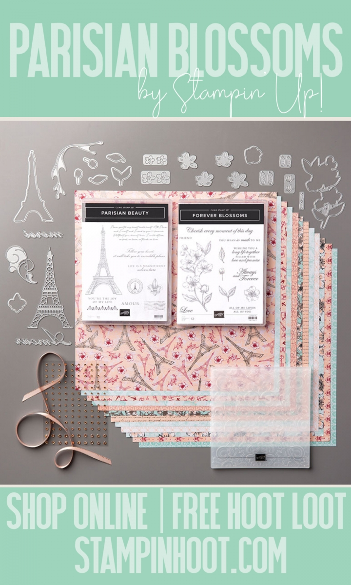 Stampin' Hoot Pin Parisian Blossoms Suite Bundle by Stampin' Up!