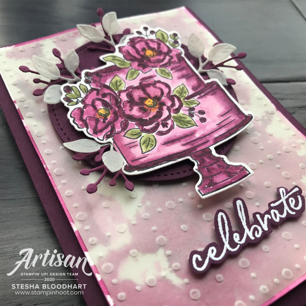 Parisian Blossoms Specialty Designer Series Paper & Parisian Beauty Bundle by Stampin' Up! Card by Stesha Bloodhart, Stampin' Hoot!(1)