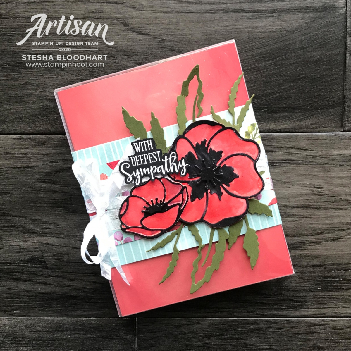 Stesha Bloodhart_February 2020_Artisan Design Team Blog Hop - Peaceful Poppies Suite by Stampin' Up!