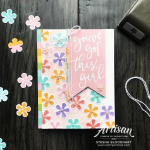 Pleased as Punch Designer Series Paper & Small Blossom Punch by Stampin