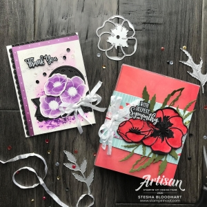 Stesha Bloodhart_February 2020_Artisan Design Team Blog Hop - Peaceful Poppies Suite by Stampin