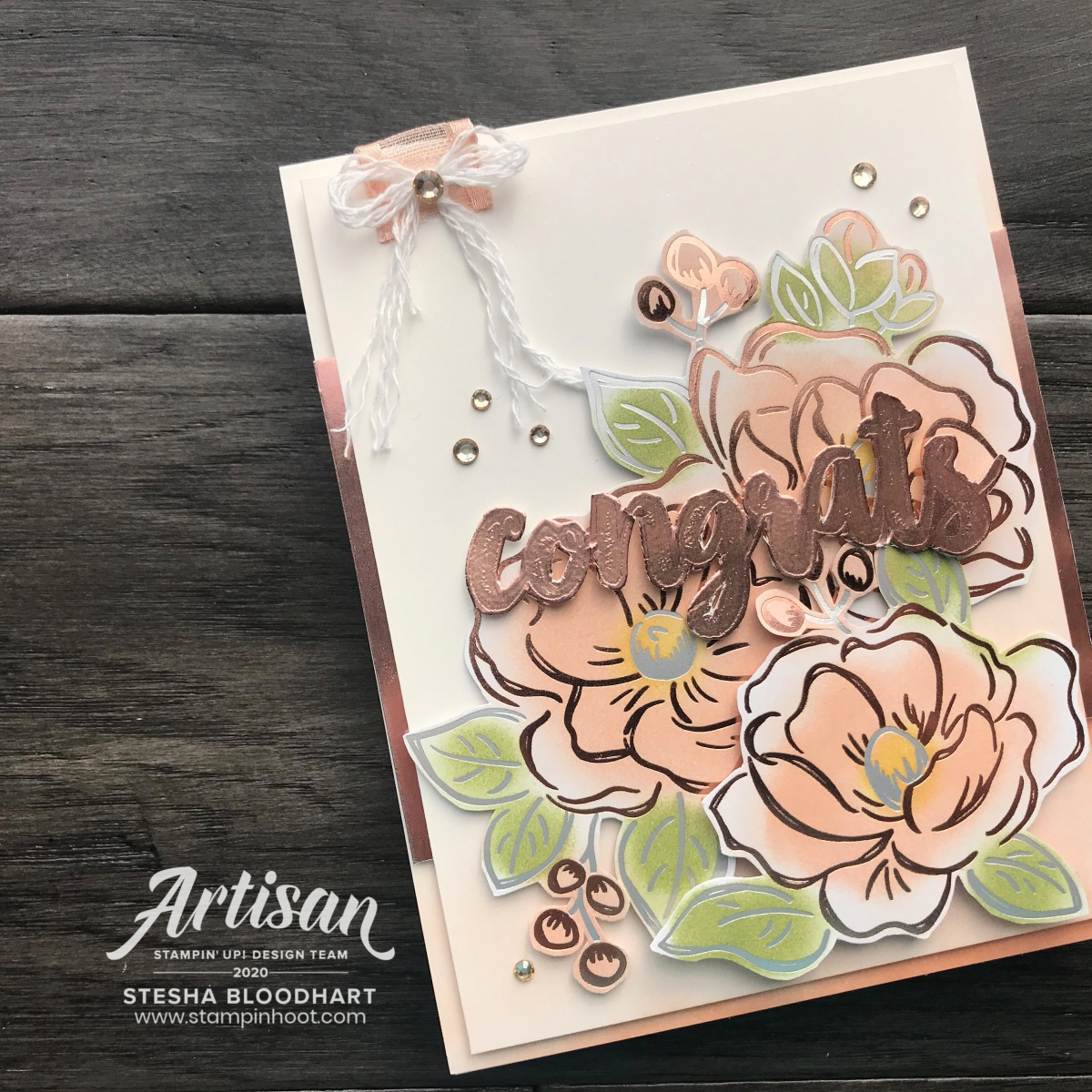 Create this card using the Flowering Foils Designer Series Paper from Stampin' Up! Stesha Bloodhart, Stampin' Hoot! Stampin' Fancy Friday