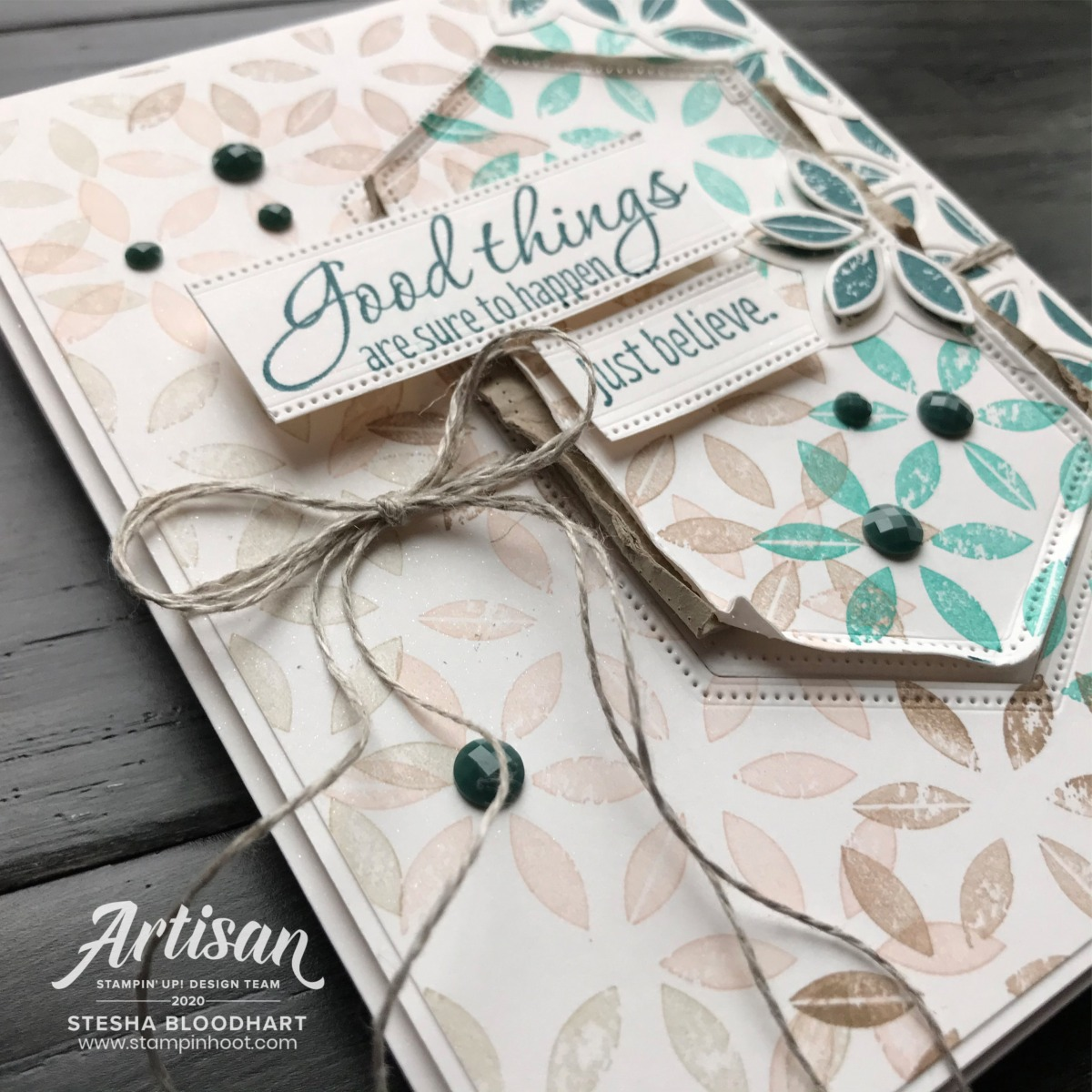 Tasteful Textures Stamp Set  & Coordinating Tasteful Background Dies from Stampin' Up! Card by Stesha Bloodhart, Stampin' Hoot! Stampin Through the Catalog Guest Designer
