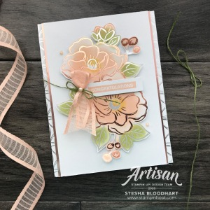 Flowering Foils DSP Congratulations Card for GDP