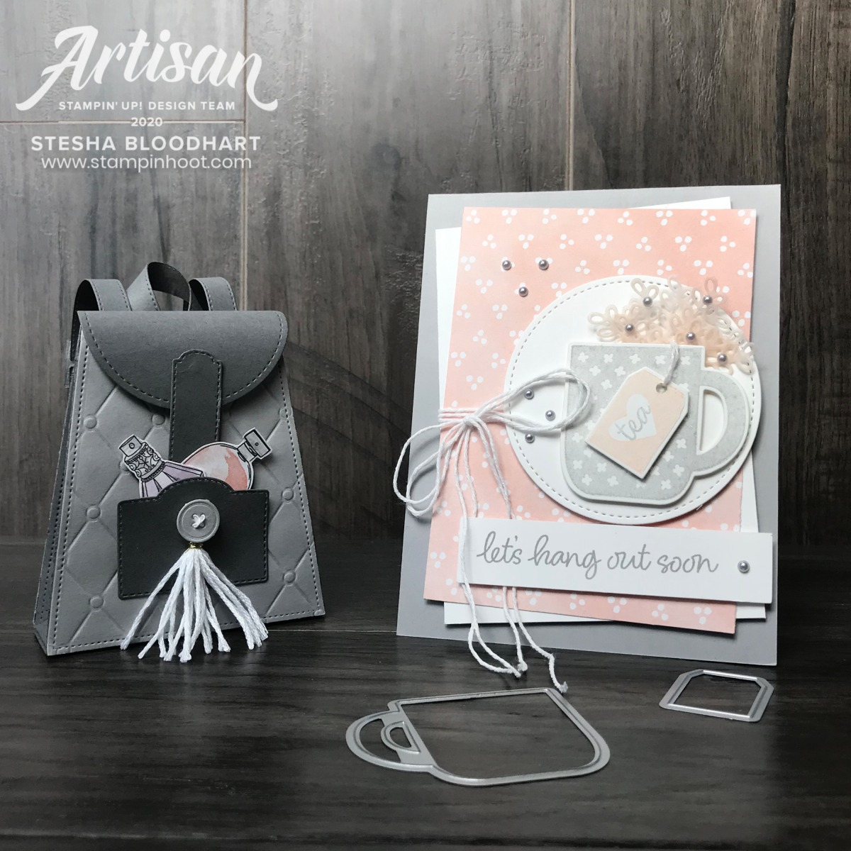 Best Dressed Suite and Rise & Shine Sale-a-Bration Set by Stampin' Up! Card by Stesha Bloodhart, Stampin' Hoot! 2020 Artisan Design Team Blog Hop